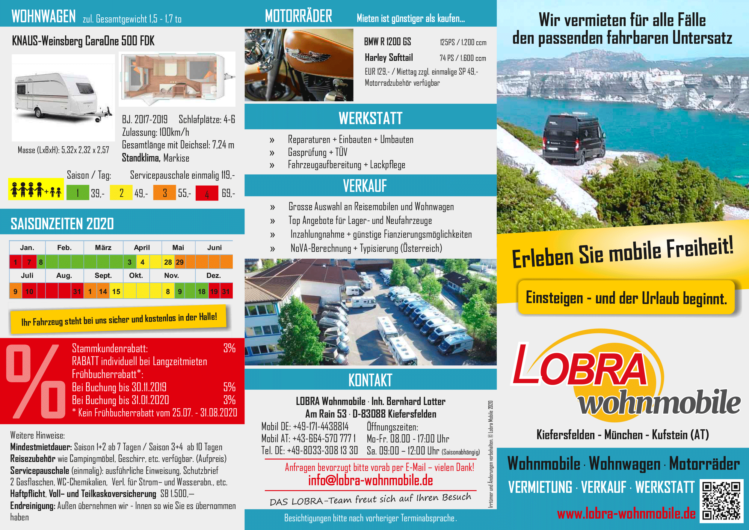 Preisliste LOBRA Wohnmobile 2020